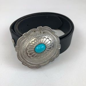 Genuine Leather Belt with Buckle Size 32
